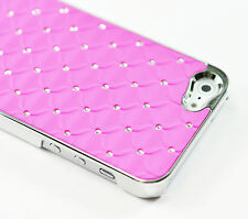 iPhone SE 5S 5 4S Cushion Quilted Designer Diamond Rhinestone Crystal Bling Case