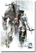 """Guild Wars 2 GW2 Norn Race Game Poster Huge Silk Fabric Canvas 36""""x 24"""""""