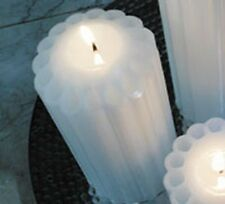 """3"""" x 9"""" Fluted White-Jasmine Scented Pillar Candle MADE IN USA #850902-2"""