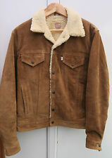LEVIS SHEARLING SUEDE LEATHER WESTERN MENS LEATHER JACKET SIZE MEDIUM M