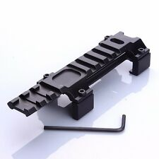 Long 120mm Rail Base Mount 20mm Rail Higher Adapter For MP5 Airsoft Scope