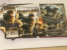 Windows pc dvd rom jeu frontlines fuel of war steelbook edition uk/euro pal R2