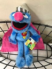 "Collectible Sesame Street Super Grover 12"" Plush Doll - Nanco 2004 - NWT"