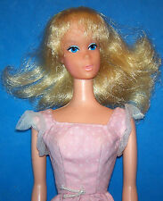 Vintage Sweet 16 Barbie Doll #7796 Shag Blonde 1974 Bendable Legs TNT Orig Dress