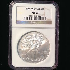 2008-W Silver Eagle ***MS69*** NGC