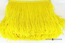 "1 yard 6"" Yellow Chainette Fringe Dance Costume Lamp Trim"
