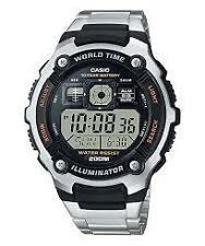 CASIO AE-2000WD-1A SILVER STAINLESS WATCH FOR MEN - COD + FREE SHIPPING