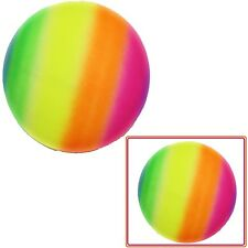 CHILDREN NEON RAINBOW PLAYGROUND PLAY BEACH BALL COMES DEFLATED