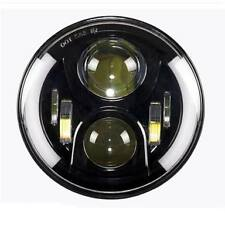 7inch 60W CREE Car/Bike WHITE AND AMBER DRL Headlight for Thar Bullet Enfield