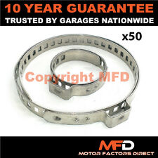 CAR ATV FITS 99% OF VEHICLES CV BOOT STAINLESS STEEL CLAMPS PAIR X 50