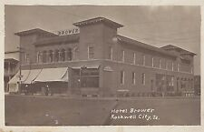 Rockwell City Real Photo Postmarked 1916 Hotel Brower