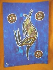 AUS-1 Blue Kangaroo Australian Native Aboriginal PAINTING Artwork Tameika Morgan