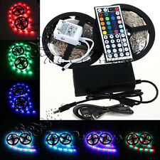 10M 3528 SMD 600LED RGB LED Light Strip+44 Key IR Remote Controller+Power Supply