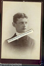 Cabinet Photo-Syracuse, New York-Close Up Young Man-ALLEN Family (Frank)