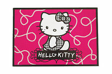 Sous main HELLO KITTY,desk blotter,bijoux,perles,rose