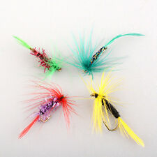 4pcs Various Dry Fly Hooks Baits Fishing Trout Salmon Flies Lures Useful
