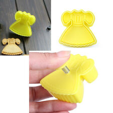1Pc Baby Dress Fondant Cake Plunger Mold Cutter Sugarcraft Paste Mold Tools HQ