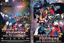 Transformers: Scramble City + Transformers: ZONE(Z) ~ 2 Movie Set ~ DVD ~Eng Sub