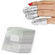 Foil Nail Art Soak Off Acrylic Gel Polish Nail Wraps Remover Clean Aluminum