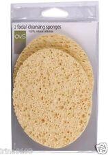 QVS 2 x Face Cleansing Sponges 100% Natural Cellulose