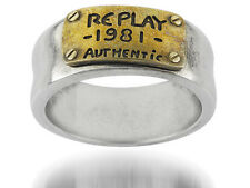 Replay Jewellery Stainless Steel Ring RAR100 60 19mm Size R New RRP 58 GBP
