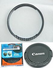 Metal Adapter CPL Filter Lens Cap For Canon Powershot SX1 IS SX1IS Camera U&S