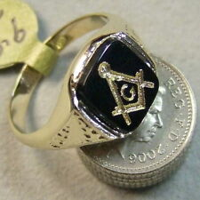 9ct gold new onyx masonic ring Ref C