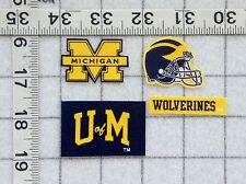 UNIVERSITY of MICHIGAN WOLVERINES Iron On Fabric Appliques No Sew FREE SHIPPING