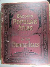 Bacon's Popular Atlas of the British Isles by G. W. Bacon 1907