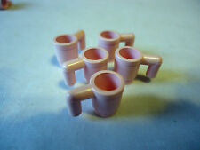 LEGO PARTS 3899 PINK  MINIFIG CUPS x 5