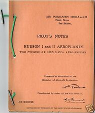 PILOT'S NOTES: HUDSON I/II BOMBER/MARITIME PATROL 36pps +FREE 2-10 PAGE INFO PAC