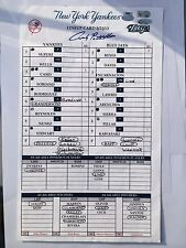 ANDY PETTITTE SIGNED LAST HOME GAME -YANKEES ACE HISTORIC GAME-1/1-MOST PS WINS