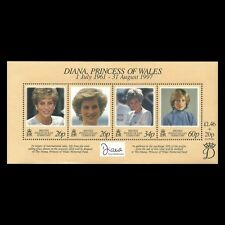 BIOT 1998 - The Death of Princess Diana Royalty Famous People - Sc 197 MNH