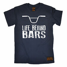 Life Behind Bars BMX T-SHIRT tee cycling jersey funny birthday gift present him