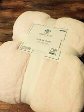 Simply Shabby Chic Cozy Blanket Laura Ashwell Twin 2 Ply Vintage Cottage PINK