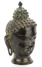 Tête de bouddha bronze antique-crémation Cendres Urne adulte infinity Art uu140007c