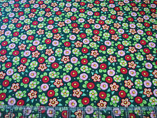 1 Yard Quilt Cotton Fabric- QT Mary Engelbreit Trimming Tree Peppermint Flowers