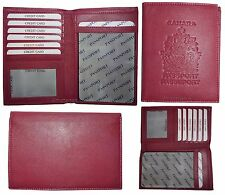 New Lamb skin Canadian Leather passport case wallet credit card case ID holder *