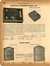 1934 ADVERT Wolverine Toy Drum Major Mystery Car Fire Alarm Box Police Phone