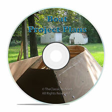 220 BOAT PLANS, HOW TO BUILD A CANOE, ROWBOAT, MORE, HOW TO BUILD A BOAT