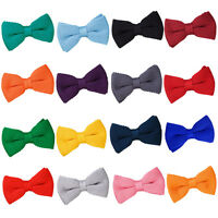 NEW DQT KNITTED MEN'S PRE-TIED BOW TIE