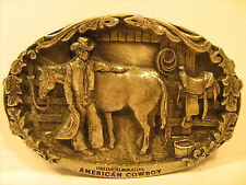 PEWTER Belt Buckle 1985 OKLAHOMA 1907 Commemorative 1238 of 5,000 [Y95s]