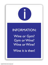 Brainbox Candy Wine Or Gym? fridge magnet funny joke cheap gift birthday present