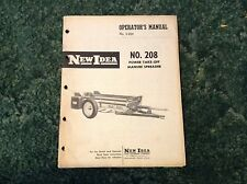 985151 -  A New Original Operators Manual For A New Idea No. 208 Manure Spreader