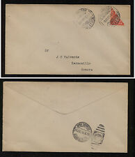 Mexico  biscet stamp on local  cover  1914           RG0919