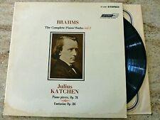 '64 DECCA CS 6404 LP BRAHMS THE COMPLETE PIANO WORKS vol 2 JULIUS KATCHEN