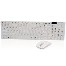 2.4G 1600 DPI Wireless Mouse and Multimedia Keyboard Combo for Desktops Whi