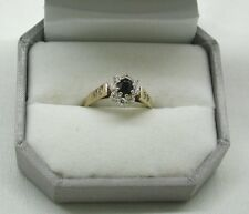A Very Nice 9ct gold Sapphire And Cubic Zirconia Cluster Ring