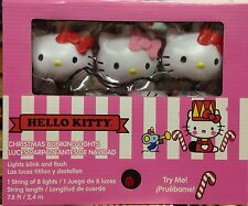 HELLO KITTY Christmas Blinking Lights Sanrio Dancing Lights Gemmy Blink & Flash