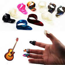 3 Finger Picks + 1 Thumb Pick Celluloid Guitar Plectrums - Nail Fingerpicks Set